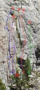 Rock Climbing Photo: The Old Dad's Line is the leftmost route off the B...