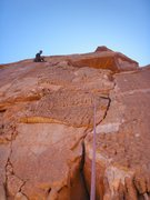 Rock Climbing Photo: Olek leading pitch 1