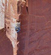 Rock Climbing Photo: Nico has stepped across