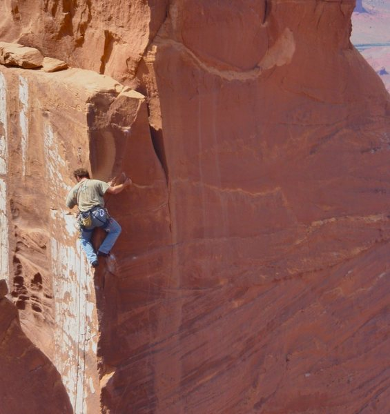 Rock Climbing Photo: Nico leading pitch 3, photos taken from summit of ...