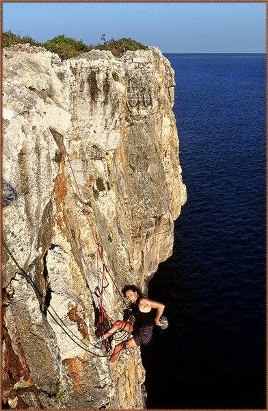 Rock Climbing Photo: Craig Luebben rigging up for a photo shoot on the ...