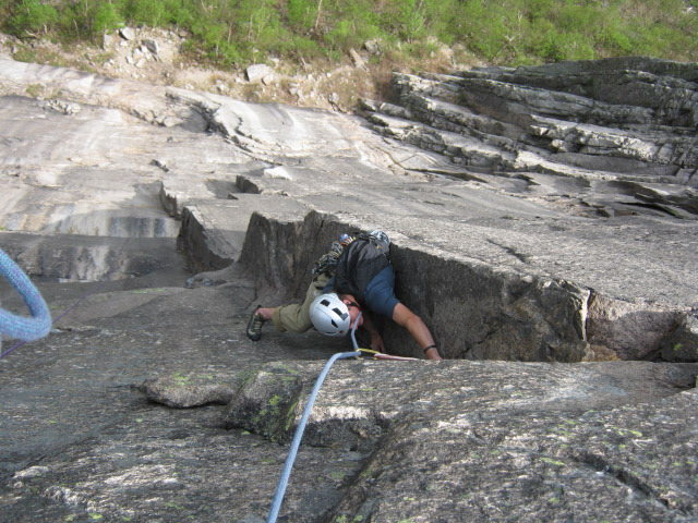 Rock Climbing Photo: End of 3rd pitch. Photo by Converse Fields.