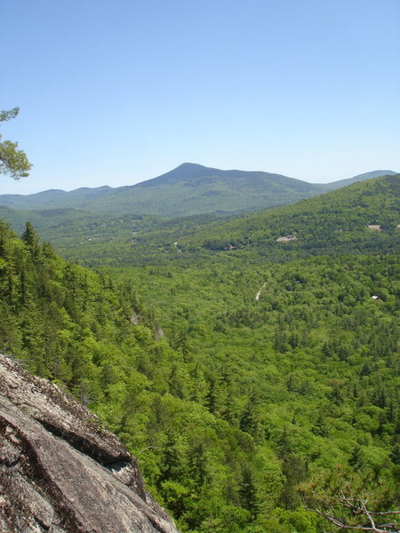 View from the upper pitches of Whites Ledge.