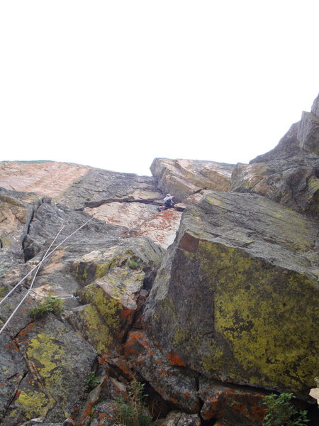 Rock Climbing Photo: Crux pitch on Aerial Boundaries