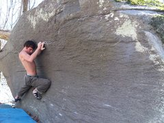 Rock Climbing Photo: Steve Lovelace cranking through for the FA of &quo...