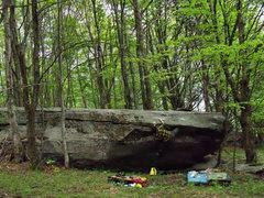 """Rock Climbing Photo: Steve Lovelace on """"Time Travel"""" (V-2) in..."""
