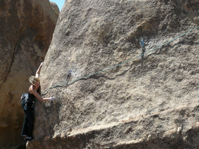 Invisible Baby Jones (5.10+) at the SE Boulders