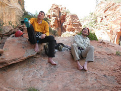 Rock Climbing Photo: Lee Jensen and I relaxing and having lunch before ...