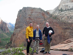 Rock Climbing Photo: Lee Jensen, Marc Jensen, and I at the summit of To...