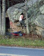 "Rock Climbing Photo: Steve Lovelace on ""Roadside"" (V-2) at th..."