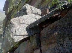 "Rock Climbing Photo: The ""Death Blocks"" at the Top of the P3 ..."