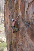Rock Climbing Photo: Stickin' the crux on my onsight burn... too bad I ...
