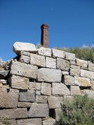 Rock Climbing Photo: Granite bricks, and the infamous smelting stack of...
