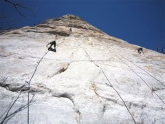Rock Climbing Photo: Busy day.  Left to right, Brianna Averill climbing...