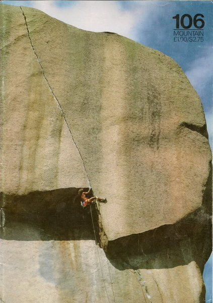 Rock Climbing Photo: Sphinx Crack on the cover.  Photo by Anne-Marie We...