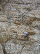Rock Climbing Photo: Myself leading pitch 3 (we split 3 & 4) of Lord of...