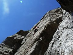 Rock Climbing Photo: Leading 4th of July