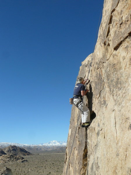 Wendall Smith on Peril Rock