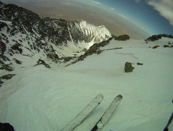 Rock Climbing Photo: Little Bear ski descent