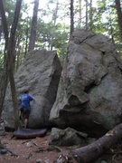 Rock Climbing Photo: Hayes at the start of Shillings.