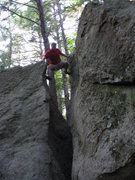 Rock Climbing Photo: The transition.