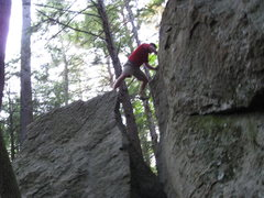 Rock Climbing Photo: Out of the Pot and into the top out. You will want...