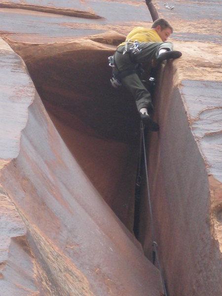 Rock Climbing Photo: Derrick at the lip!