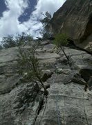 Rock Climbing Photo: Just above the crux....