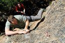 Rock Climbing Photo: Eric on Thagomizer