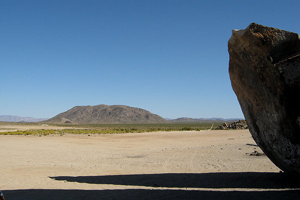 Goat Mountain from Giant Rock.<br> Photo by Blitzo.
