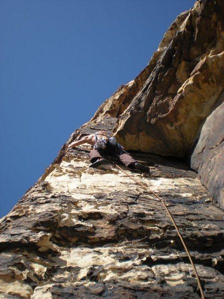 Rock Climbing Photo: starting pitch three