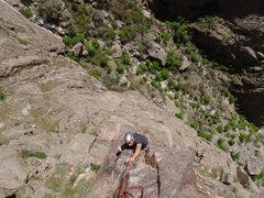 Rock Climbing Photo: Blake Herrington on pitch 1.