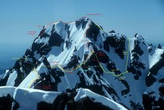 Rock Climbing Photo: Looking from near the summit of the North Brother,...