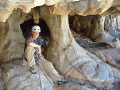 Rock Climbing Photo: Belay at the Pillars of Hercules