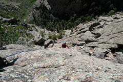 Rock Climbing Photo: BAZ coming up pitch 5