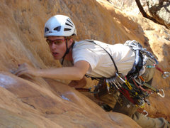 Rock Climbing Photo: Tristan leading Squeakeasy