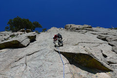 Rock Climbing Photo: Benny starting the headwall on Pitch 6