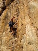 Rock Climbing Photo: Elliot on The Golden Fleece