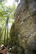 Rock Climbing Photo: Ross Purnell figuring out the next moves on Yellow...