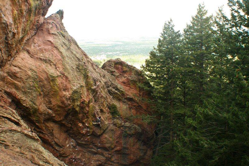 Rock Climbing Photo: Jason clipping on Touch Monkey.