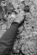 Rock Climbing Photo: Dave working with small holds down low...