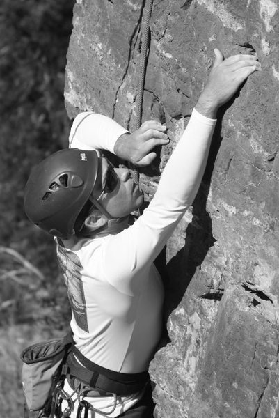 Rock Climbing Photo: dave on the route to the left of stoic... what is ...
