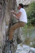 Rock Climbing Photo: Nick Mierau bouldering in Mill Creek