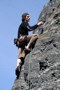 Rock Climbing Photo: me on my first lime stone route that i know of... ...