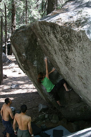 'Root Canal' in the Curry bouldering area.