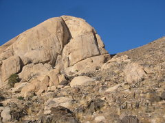 Rock Climbing Photo: R.T.C.P. goes up the obvious orange stain left of ...