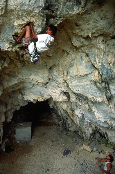 Rock Climbing Photo: Josué Millo on Malanga Hasta La Muerte, 12c / 7b+...