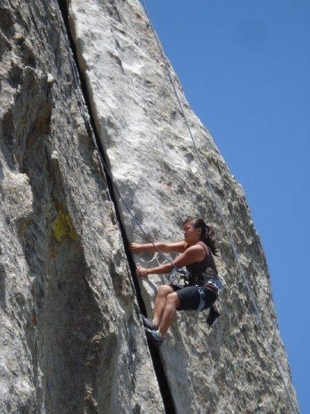 Rock Climbing Photo: Love the flake on Rye Crisp