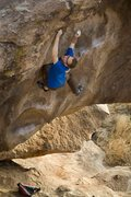 Rock Climbing Photo: Tcamillieri on the crux move of To Die For sans pa...