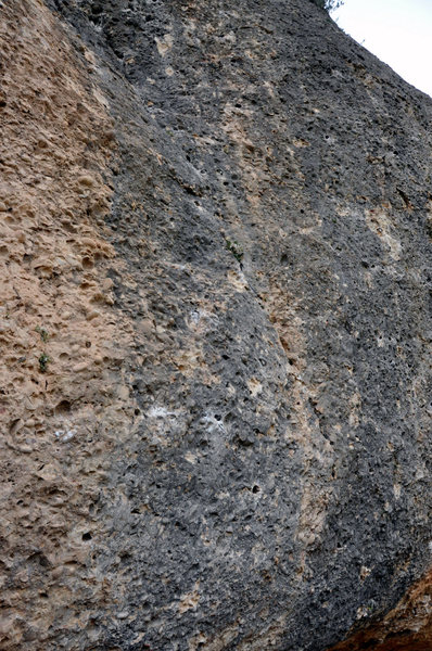Rock Climbing Photo: The start of the line, first and second bolts visi...
